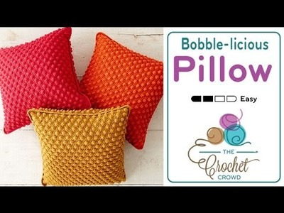 How to Crochet A Pillow: Bobble-licious Pillows