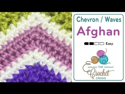 How to Crochet A Wave Afghan: HDC Wave