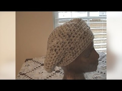 How to Crochet Beret Hat Part 2