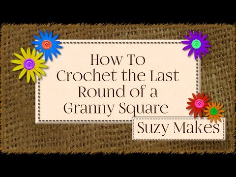 How to Crochet  the Final Round of a Granny square