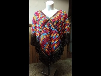 How To #Crochet Womens Poncho Wrap Shawl #TUTORIAL