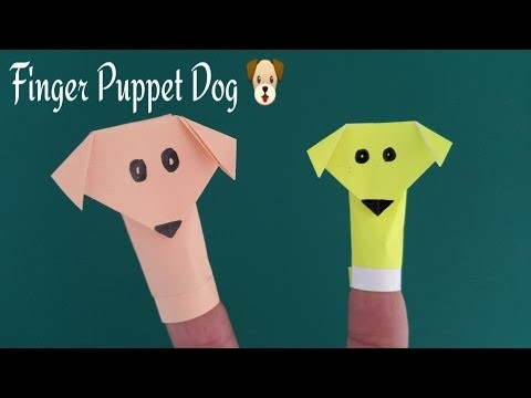 "How to do a Paper ""✌Finger puppet Dog"