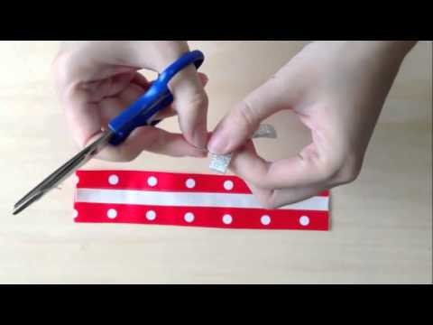 How To Make A National Day Bracelet Using Patterned Grosgrain Ribbon