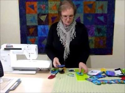 How to make a Wonky House Bunting using 2 1.2
