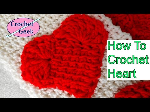 How to make Crochet Heart Left Hand