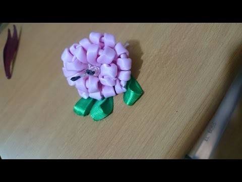Kanzashi Flowers : How to Make Satin Flowers + Tutorial