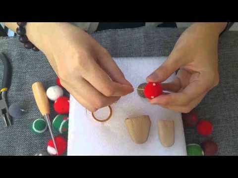 Lesson 3:How to make keychain with needle felted balls?