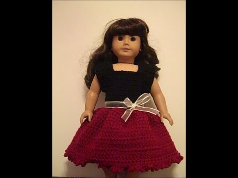 Party Time Doll Outfit - How to Crochet a Doll Dress (Part 1) - Red Heart Yarn Pattern