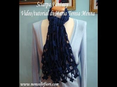 Sciarpa Fantasy all'uncinetto Crochet scarf