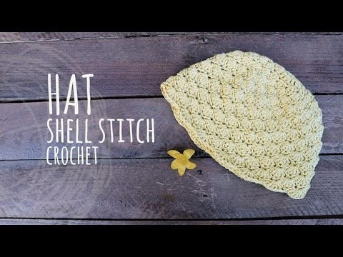 Tutorial Shell Stitch Hat Crochet