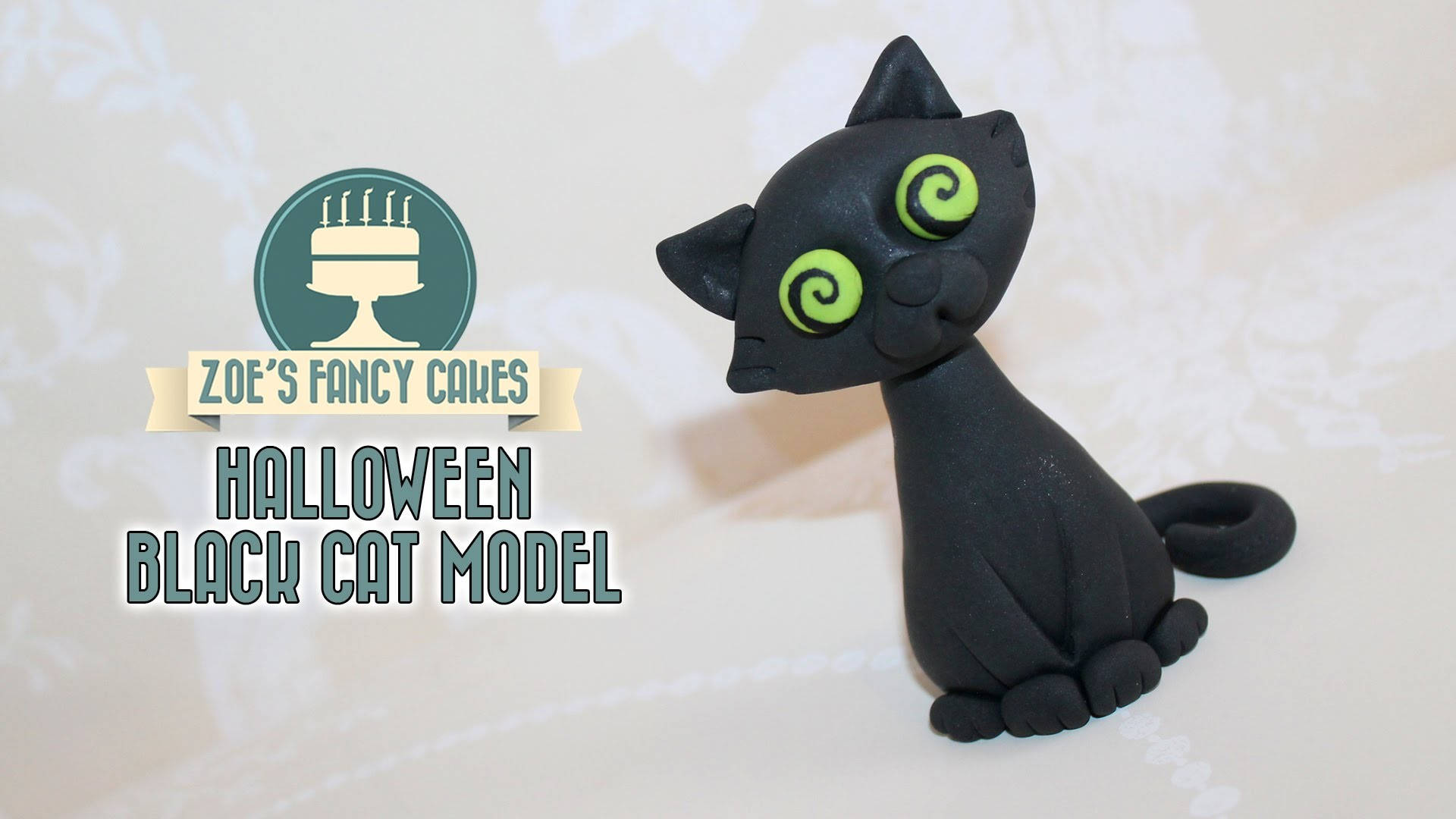Black cat model : How to make a black cat cake topper
