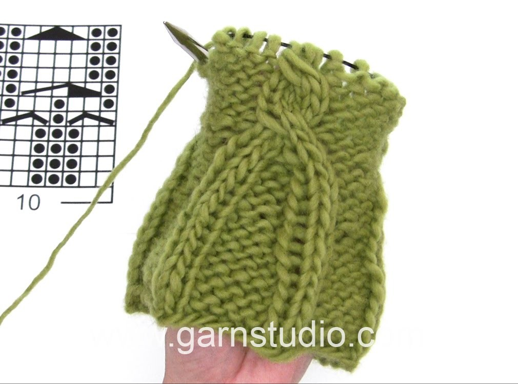 DROPS Knitting Tutorial: How to work the cable edge in DROPS 169-27 and DROPS 169-10