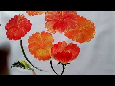 Fabric Painting- how to paint flowers