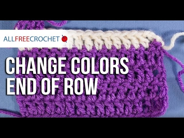How to Change Yarn Colors End of Row