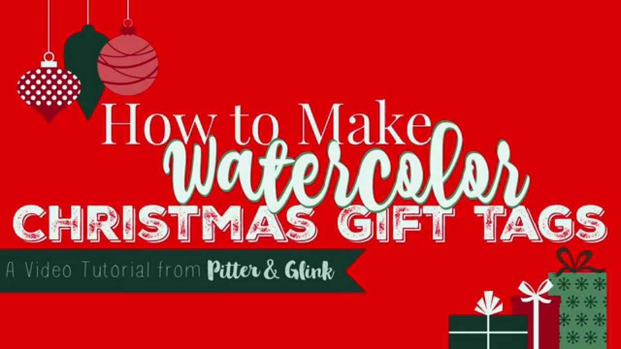 How to Create Watercolor Christmas Gift Tags