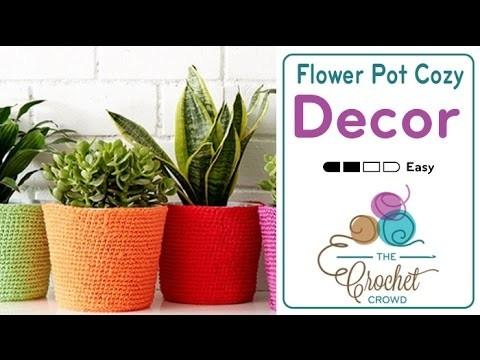 How to Crochet A Flower Pot Cozy