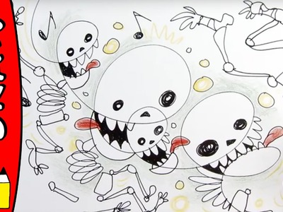 How To Draw Skeletons | Halloween Ideas For Kids | Øistein Kristiansen