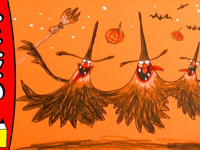 How To Draw Witches | Halloween Ideas For Kids | Øistein Kristiansen