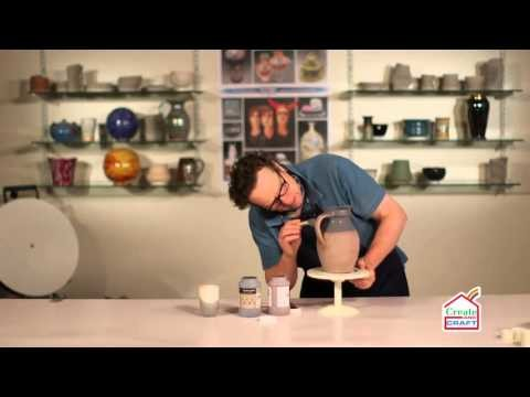 How to Glaze a Biscuit Fired Bellied Jug Part 2 | Craft Academy