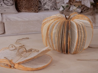 How to make a Concertina Thanksgiving Pumpkin