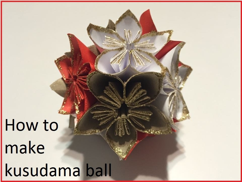 How to make a kusudama ball