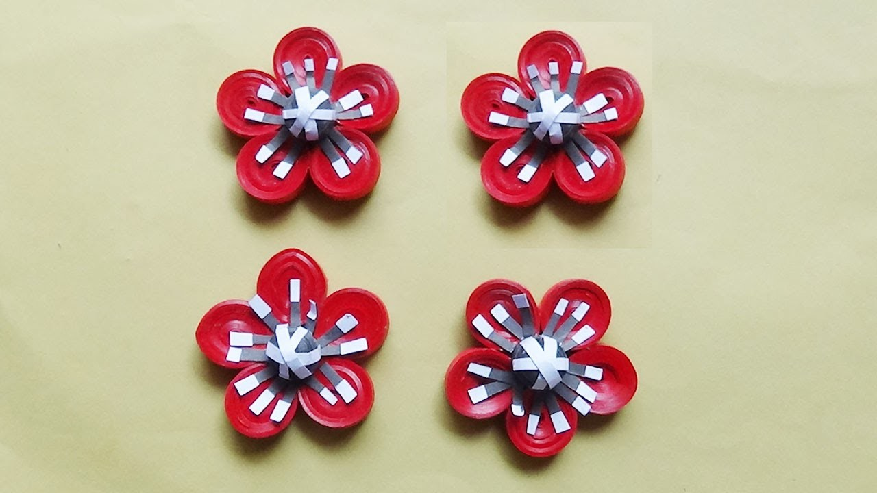 How To Make A Paper Quilling Flower