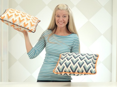 How to make a pillow or cushion with Piping attached