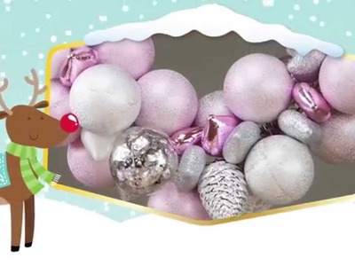 How to make a really SIMPLE bauble wreath!