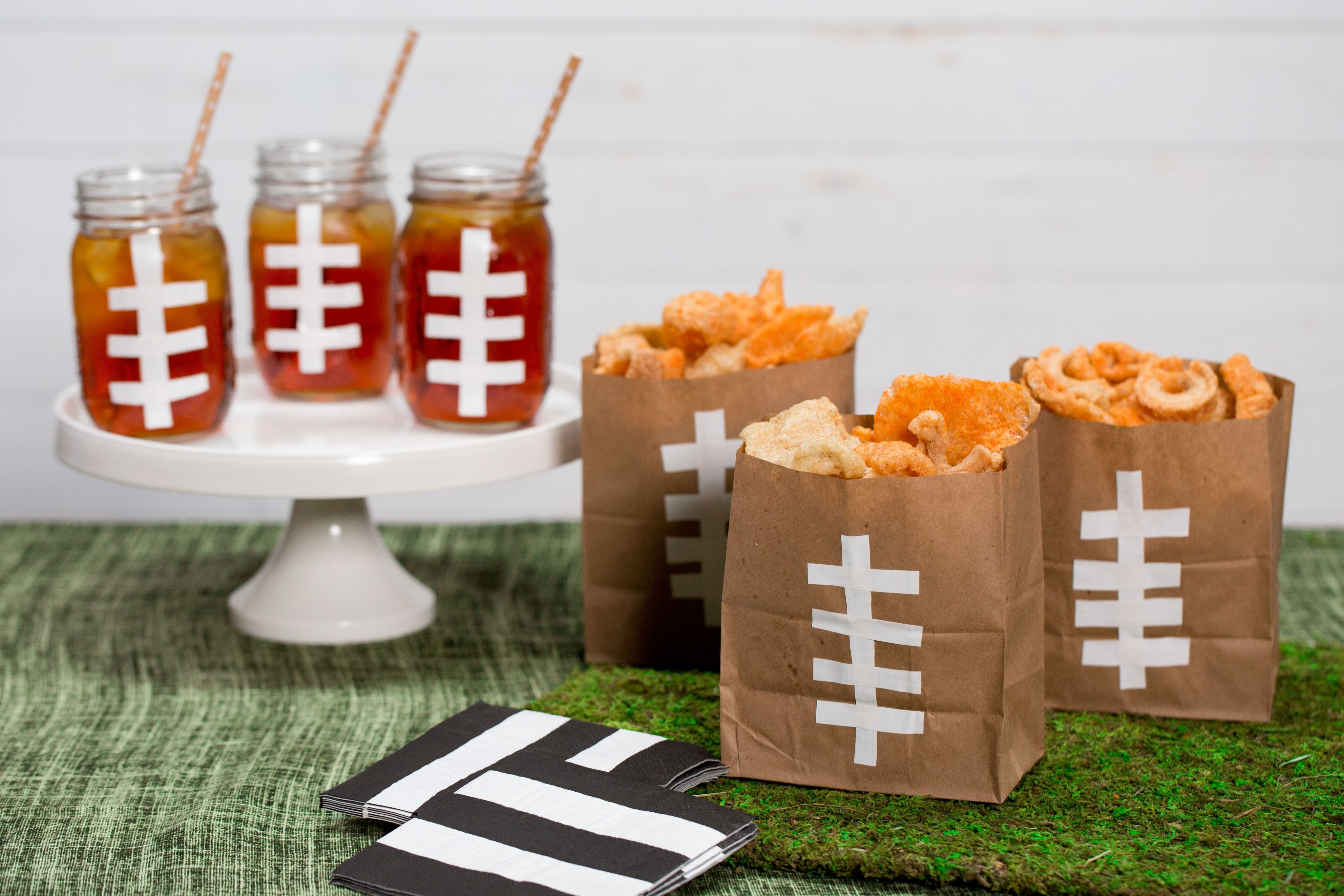 How To Make Cool Festive Football Bags and Mason Jars | Southern Living