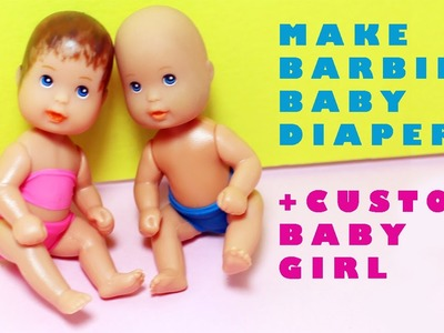 How to Make Diapers for your Barbie's baby - Super Easy Doll Crafts