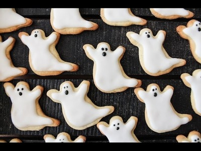 "How To Make Ghost Cookies ""Sugar Cookies"" (Halloween) - By One Kitchen Episode 275"