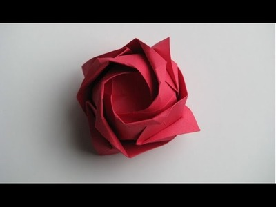 How to Make Origami Rose | Tutorial make Rose by paper