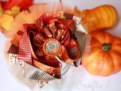 How to: Turkey hairbow tutorial