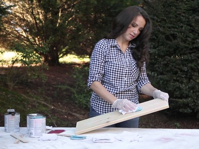 Learn how to create a whitewash look with Varathane stain with tips from Katie Bower