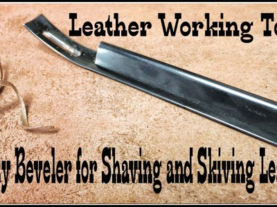 Leather Working How to Hand Shave and Skive with Tandy Leather Tool
