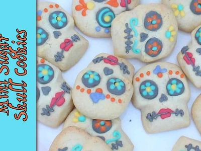 Mini Day of the Dead Sugar Skulls - How to make Halloween cookie treats