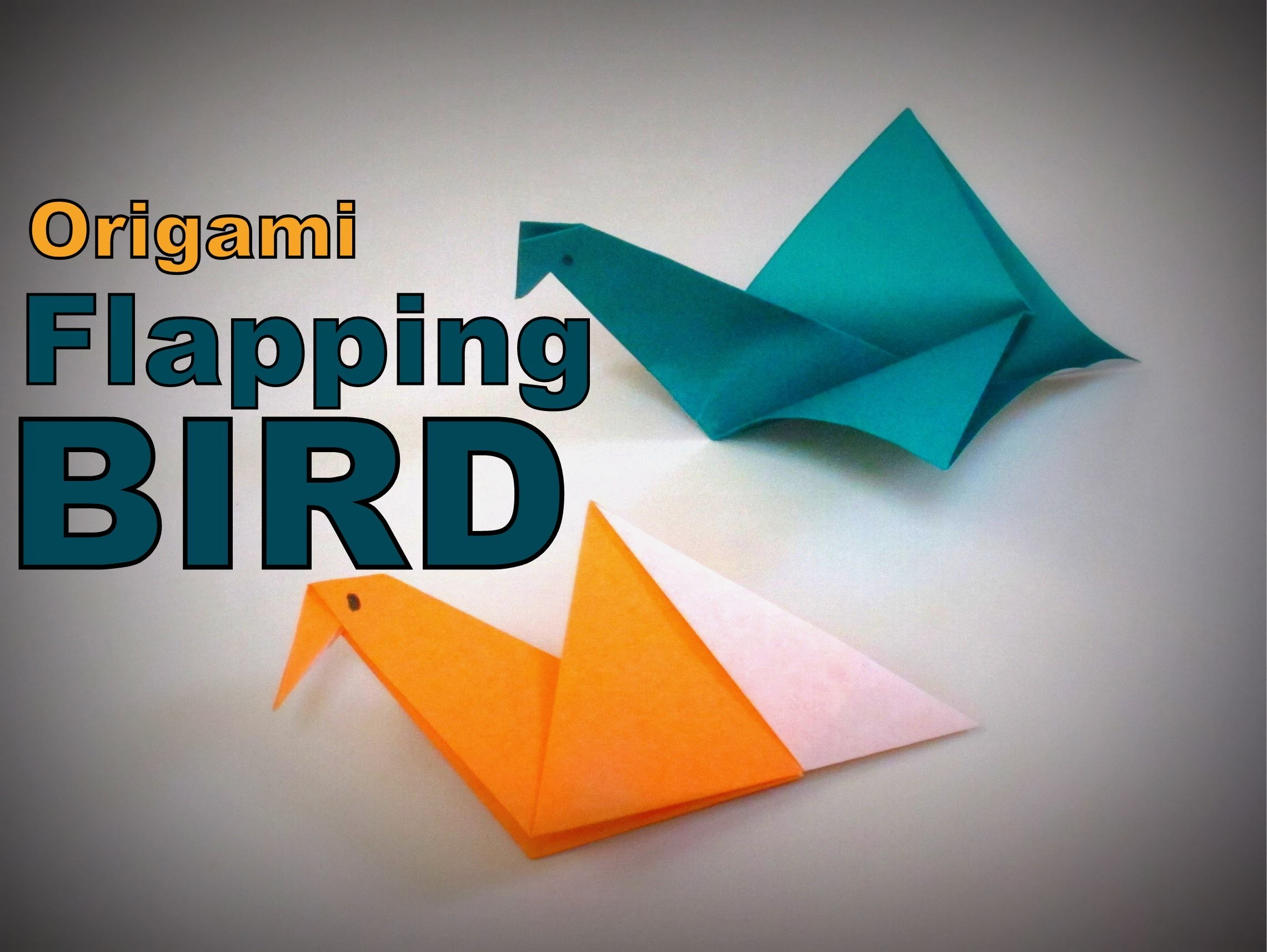 Origami - How to make a Flapping BIRD