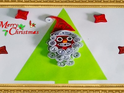Paper quilling: How to make Santa figure with quilling strips for cristmas 2015