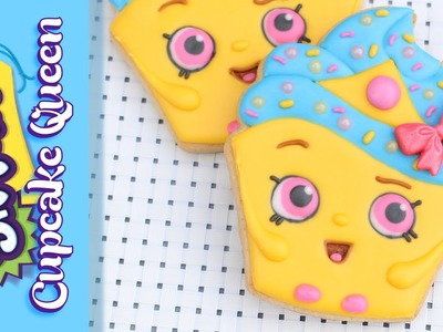 Shopkins Cookie - How to make a Shopkins Cupcake Queen Cookie - Make your own Shopkins tutorial