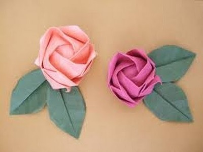 THE BEST Origami flower instruction - How to make origami flower