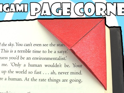 Very Easy Origami Page Corner ( How to Video)
