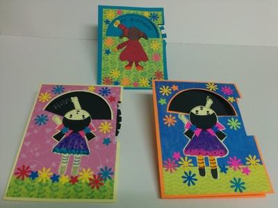 Art and Craft: How to make Rotating wheel card. Magic card