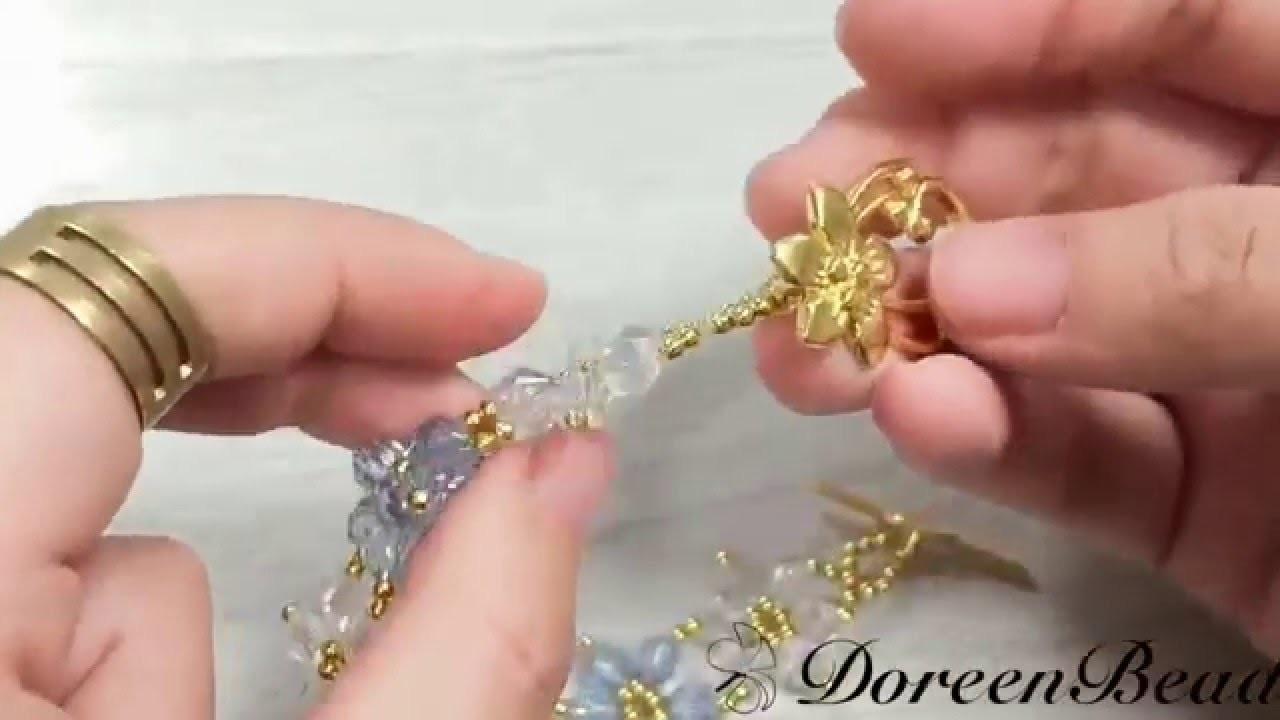 Doreenbeads Jewelry Making Tutorial - How to Make Beaded Snowflake Bracelet