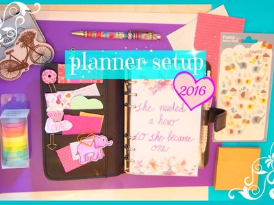 How i setup my planner for 2016!