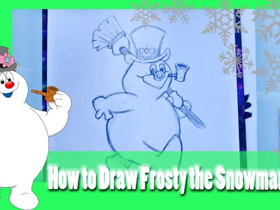 How to Draw FROSTY THE SNOWMAN (a Christmas Doodle tutorial) - @dramaticparrot