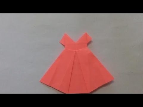 How to fold an easy origami dress for kids