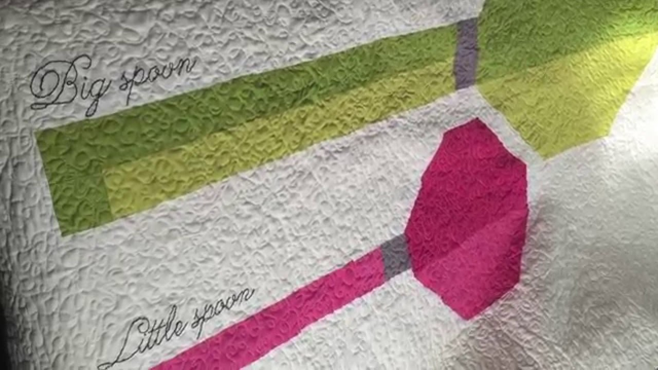How To Hand Embroider A Name on a Quilt