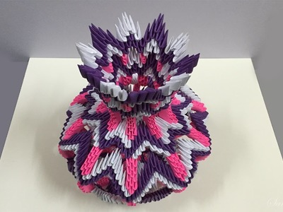 How to make 3d origami vase 14 - part 1