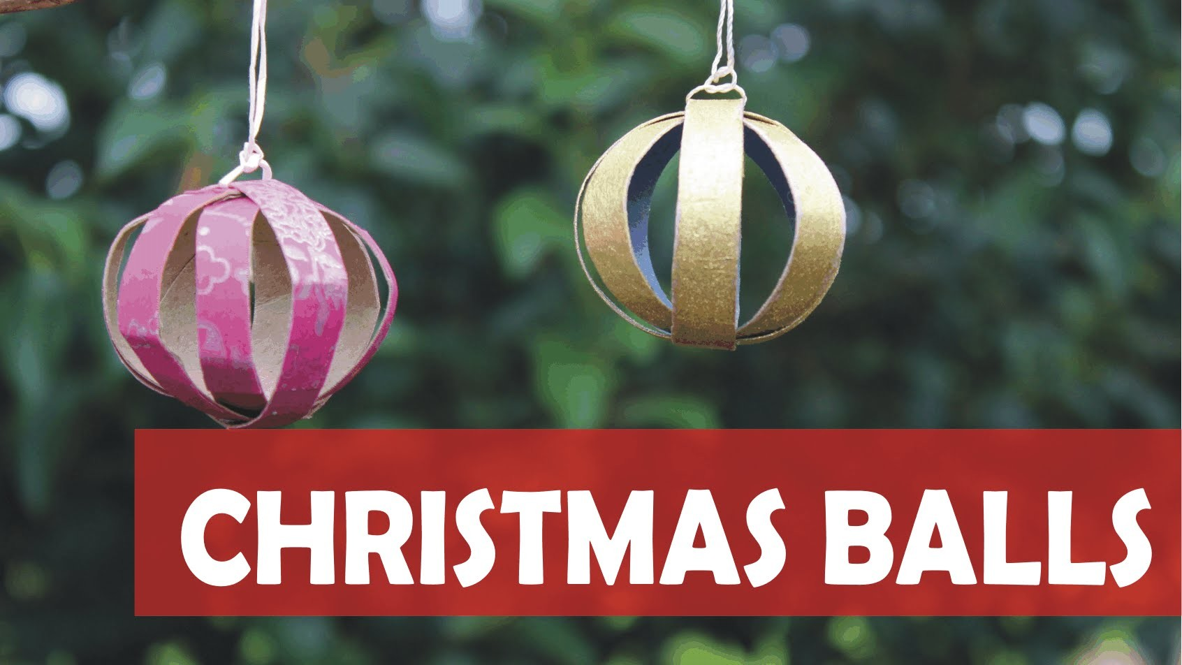 How to make a Christmas ball tree ornament from toilet paper rolls
