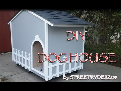 HOW TO MAKE A DOG HOUSE Pt 1 of 2